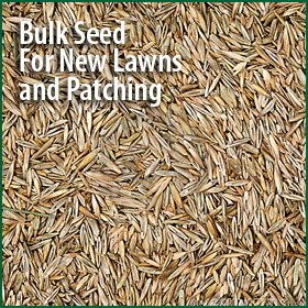 Bulk seed and fertilizer is available, using our tried and true blends.