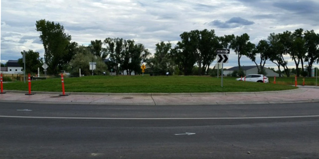 Roundabout in Billings Montana